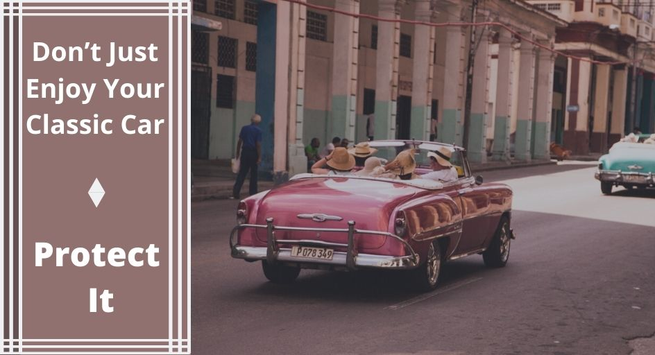 blog image of a family driving their antique classic automobile
